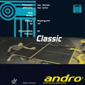 andro classic soft revetement tennis de table
