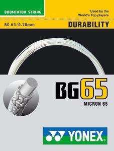 cordage yonex bg 65