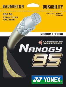 cordage yonex nanogy 95