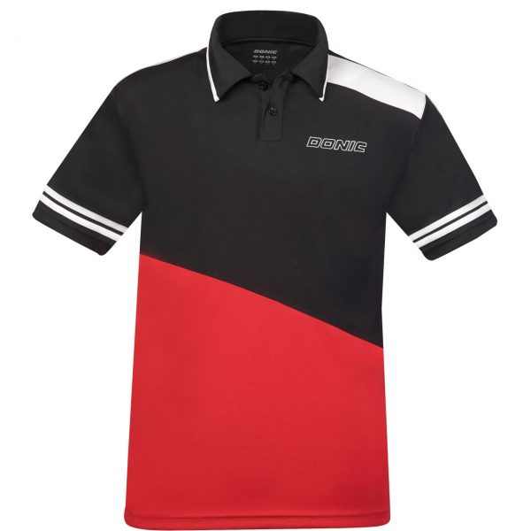 donic poloshirt prime red front web