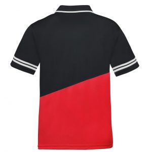 donic poloshirt prime red rear web