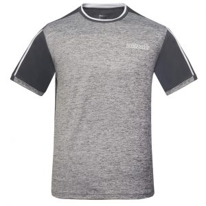 donic t shirt melange tee anthracite front web