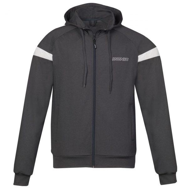 donic tracksuit jacket hype anthracite web
